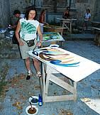 Een schilderoefening buiten