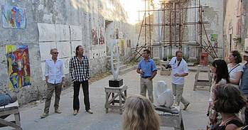 Eindtentoonstelling van schilderen en beeldhouwen in La Cappella