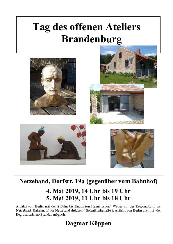 Brandenburg lädt ein zum Tag des offenen Ateliers