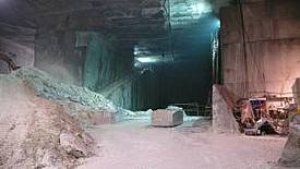 Underground quarrying close to Carrara