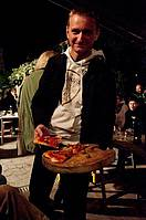 Dirk likes our home made pizza