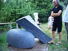 Two-pieces granite sculpture by Linda from the Netherlands