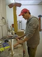 Peter in zijn atelier in Berlijn