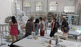 Das Studio von Nicolas  Bertoux in Seravezza