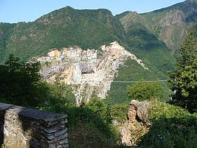 View from the age-old marble quarry of Michelangelo Buonarroti