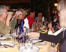 A celebration in the Restaurant Michelangelo