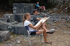 Wir zeichnen im Bardiglio-Steinbruch