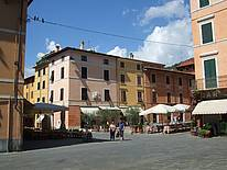 A typical Tuscan Piazza in summer