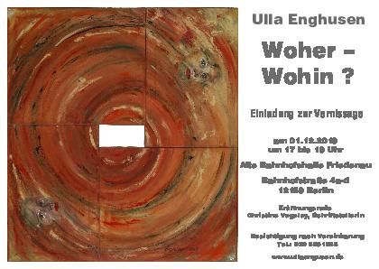 Ausstellungseinladung Ulla Enghusen