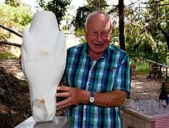 Der Bildhauerei treu: Lex Haak kommt seit über 20 Jahren zum Campo