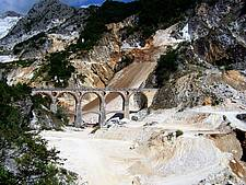 Visiting the world famous bridges of Vara close to Carrara  in Tuscany, Italy