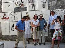 Ausstellung von Malerei in La Cappella, Toskana, Italien